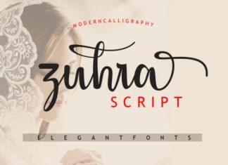 Zuhra Script Font