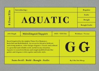 Aquatic Regular Font