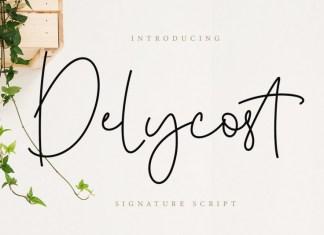 Delycost Signature Style Script Font