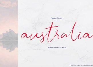 Australia Script Font
