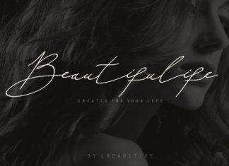 Beautifulife font