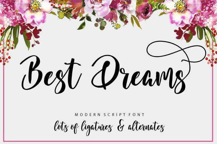 Best Dreams Script Font