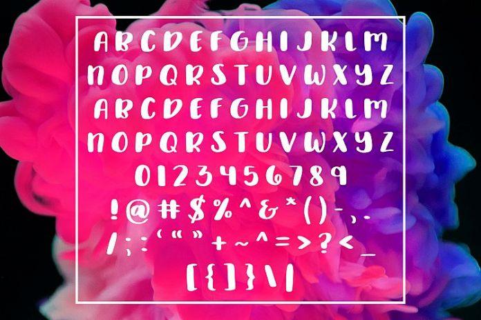 Delirious - A Chunky All Caps Handwritten FontRegular Font