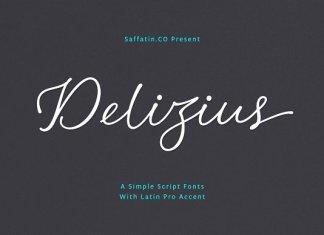 Delizius Script Pro Font