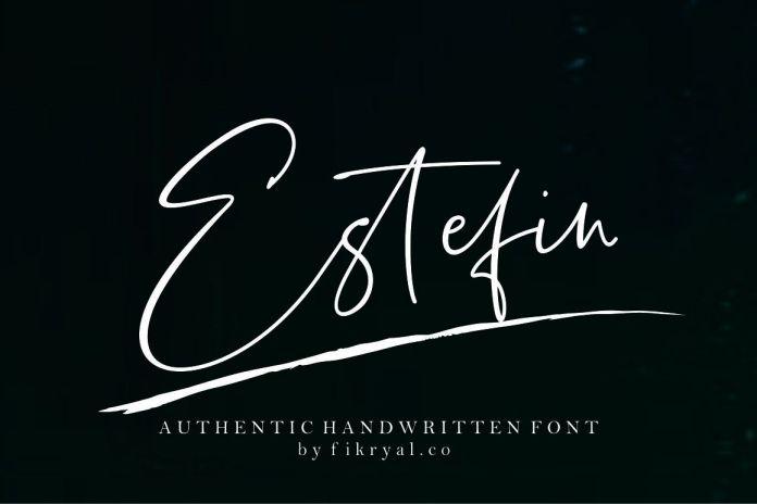 Estefin // handwritten font