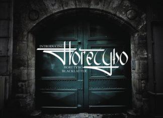 Horetybo Font