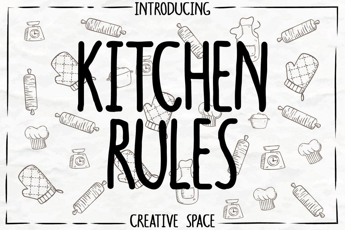 Kitchen Rulesregular Font Ifonts Xyz