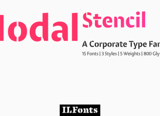 Modal Stencil Font Family