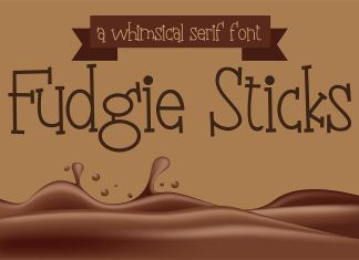 PN Fudgie Sticks Regular Font