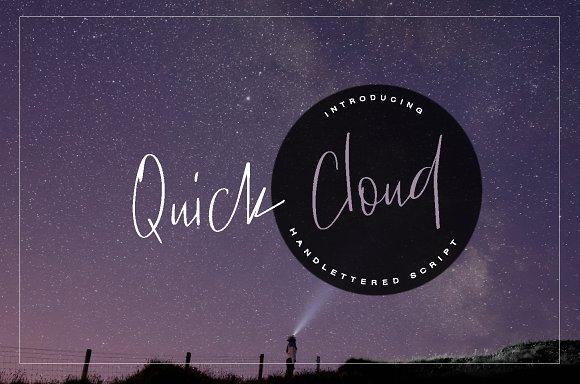 Quick Cloud Font