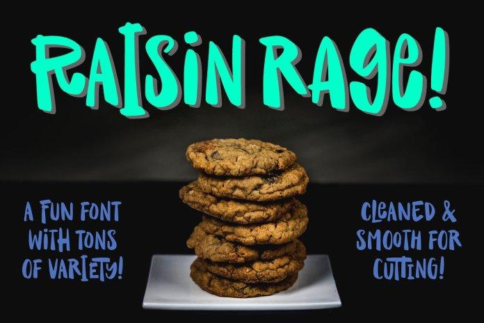 Raisin Rage: a fun & casual font