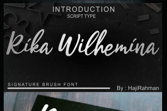 Rika Wilhemina Font