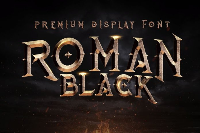 Roman Black - 8 Display Fonts