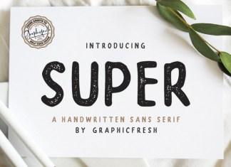 SUPER - A Handwritten Font