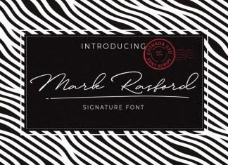 Mark Rasford Signature Font Script