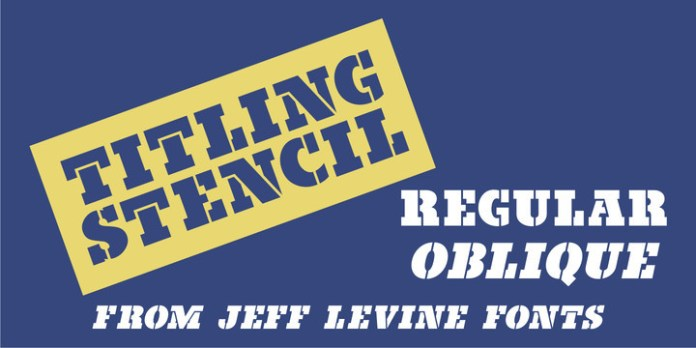 Titling Stencil JNL Font