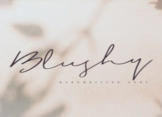 Blushy Font