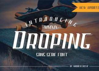 Droping Font