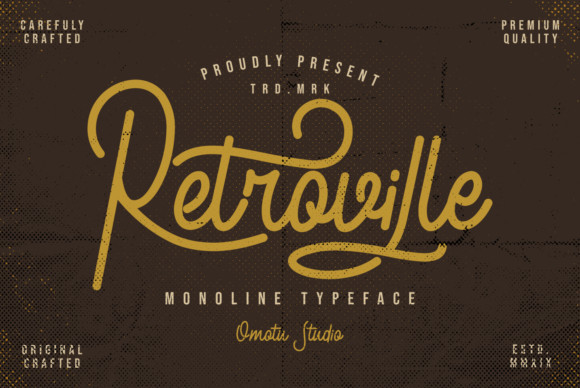 Retroville font