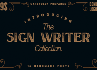 The Sign Writer Font Collection
