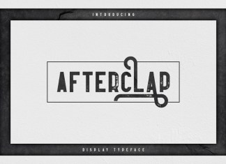 Afterclap typeface Font