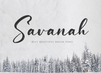 Savanah, a Brush Script Font