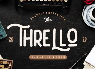 Thrello Monoline Brush Font