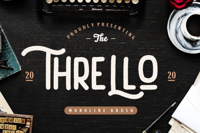 Thrello Monoline Brush Font