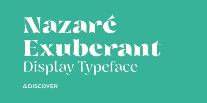Nazare Exuberant Font Family