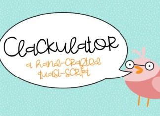 Clackulator Font