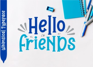 Hello Friends Font