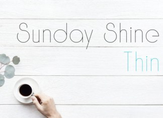 Sunday Shine Thin Font