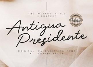 Antigua Presidente - Script Font