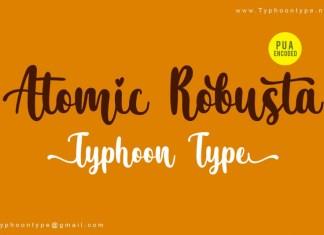 Atomic Robusta font