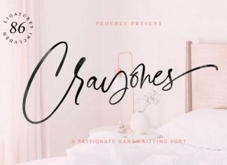 Crayones Script Font