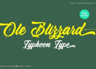 Ole Blizzard font