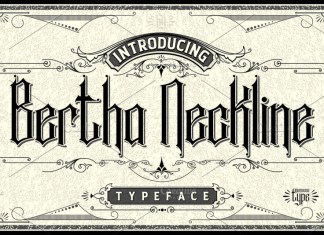 Bertha Neckline Font