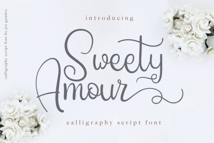 Sweety Amour Calligraphy Font
