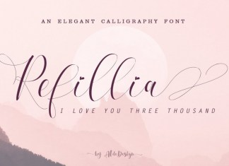 Refillia Calligraphy 'Beauty