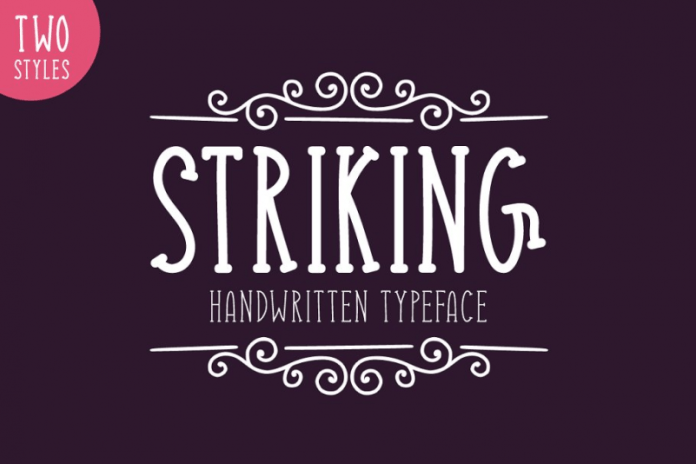 Striking Typeface Font