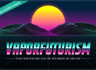 Vaporfuturism OTF Retrowave Font