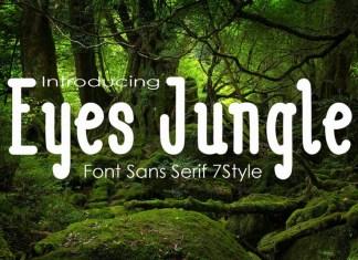 Eyes Jugle Family Font