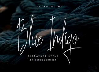 Blue Indigo Font