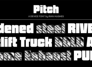 Pitch Font Family Font