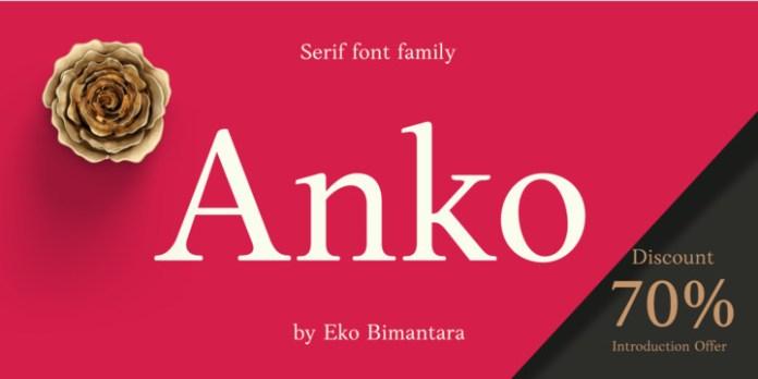Anko Font Family