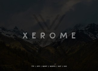 Xerome Display Typeface with Webfont Font