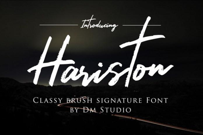 Hariston - Classy Signat Font