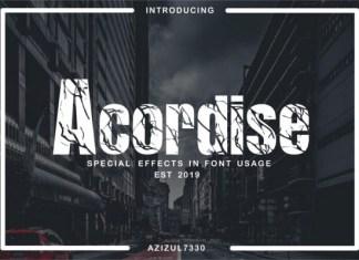 Acordise Font