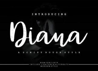 Diana Rough Font