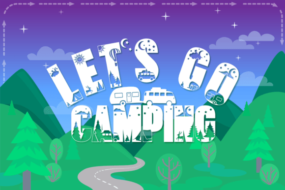 Let's Go Camping Font